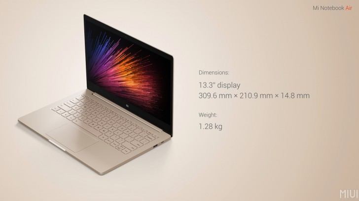 the mi notebook air is a macbook  petitor that won t