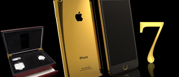 Gilded iPhone 7 on pre-order