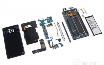 Galaxy Note7 is ever so slightly easier to repair than the S7, teardown reveals