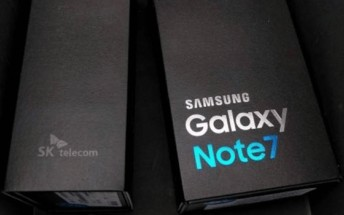 Samsung Galaxy Note 7 units and box leak in live shots