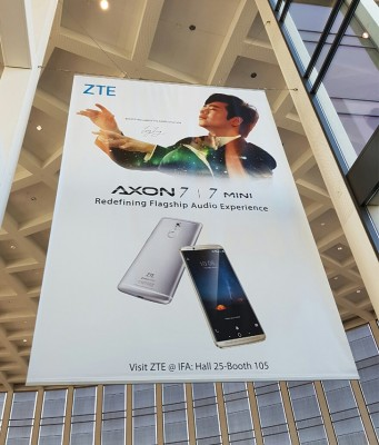 A grand poster for a diminutive phone
