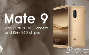 Huawei Mate 9 promo image confirms dual 20MP cameras
