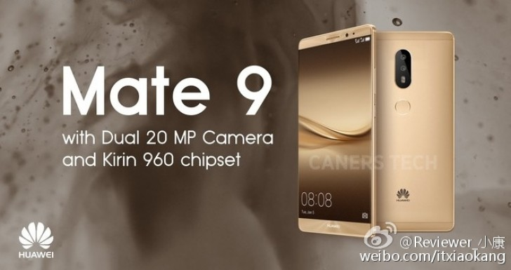 Huawei Mate 9 Coming In December With Dual 20 Megapixel Cameras