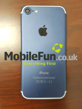 The iPhone 7 in purportedly light blue color variant
