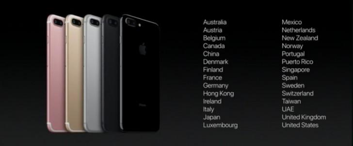 តើកំពូលស្មាតហ្វូន iPhone 7 និង 7 Plus នឹងមានវត្តមាននៅក្នុងប្រទេសណាខ្លះមុនគេ ?