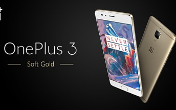 Soft Gold OnePlus 3 landing in India next month