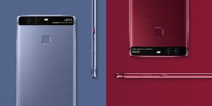 Huawei P9 ចេញពីរព៌ណទៀតហើយ គឺព៌ណក្រហម និងព៌ណខៀវ