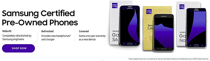 Samsung bắt đầu bán tân trang flagships Galaxy tại Mỹ