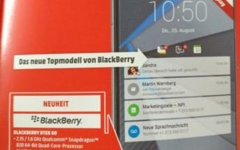 New BlackBerry DTEK60 could be released as soon as October 25