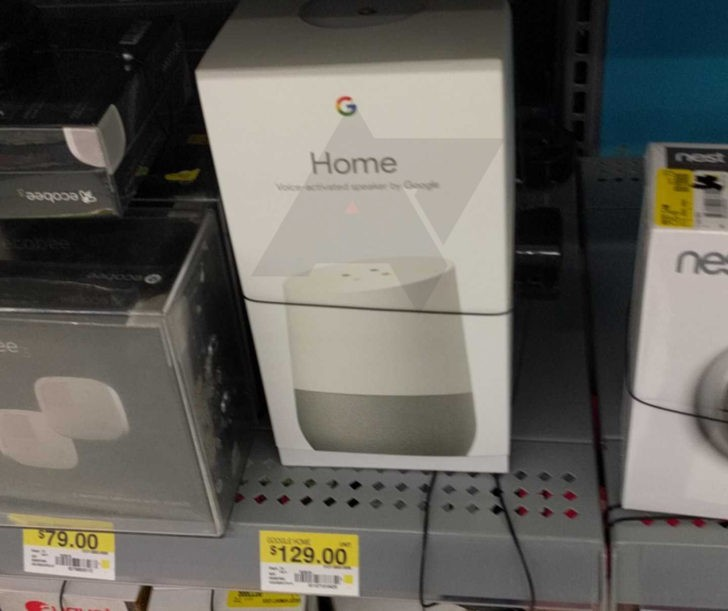 google home seen on sale at walmart shelf before release. Black Bedroom Furniture Sets. Home Design Ideas