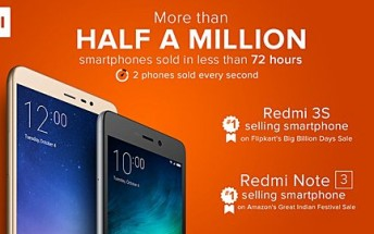 Half a million Redmi devices sold in 72 hours