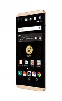 LG V34 isai Beat in Gold