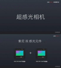 Two Sony camera sensors