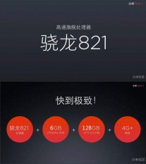Snapdragon 821 with up to 6GB RAM