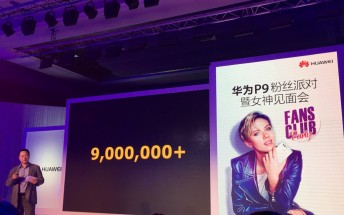Huawei P9 sales reach 9 million