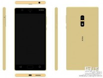 Renders of that same phone: Gold (with fingerprint reader)