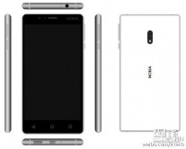 Renders of that same phone: White and gold (no fingerprint)