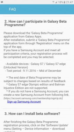 Galaxy Beta Program