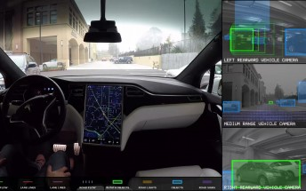 Watch the Tesla Autopilot drive the car around the neighborhood on its own