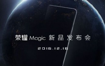 Honor sends press invites for December 16 event, it's about Magic