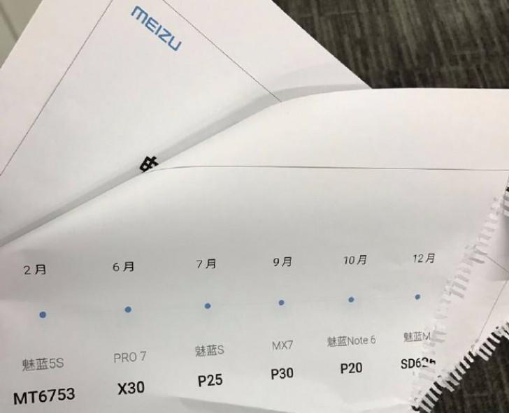 Lộ trình ra mắt của Meizu 2017 bị lộ