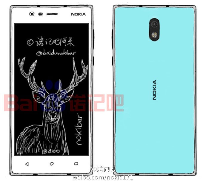 New Nokia Android smartphone sketches leaks out