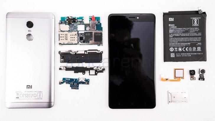 Xiaomi Redmi Note 4 Taken Apart Easily