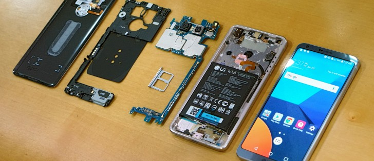 LG G6 disassembly reveals an advanced heat pipe, sealed-in ...