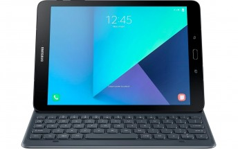 Samsung Galaxy Tab S3 render with keyboard accessory surfaces online