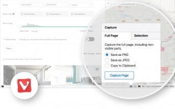 Vivaldi adds screenshots, mute all tabs feature
