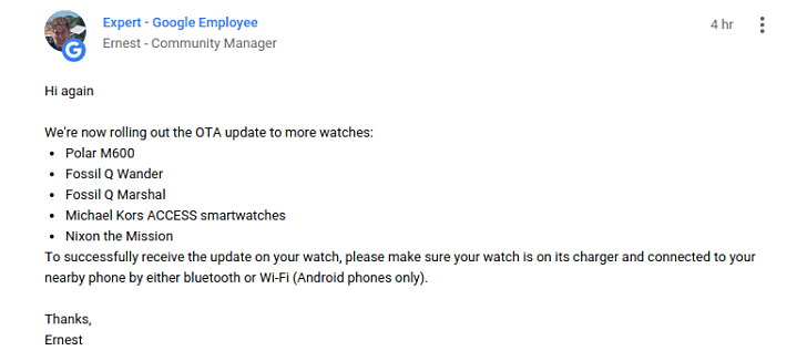 More watches are getting Android Wear 2.0 update ...