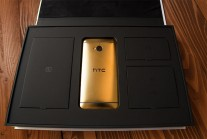 HTC One (from 2013) plated in 24K Gold... this leprechaun needs to upgrade more often