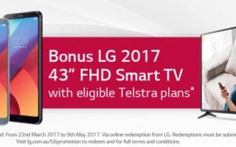 LG G6 pre-orders in Australia include a free 43-inch smart TV