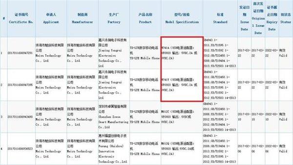 Two Meizu phones pass through China's 3C certification authority