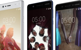 Nokia 3, 5 and 6 all feature VoLTE support