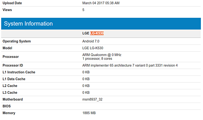 Nougat-powered LG Stylo 2 Plus spotted on Geekbench
