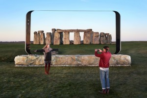 Viewed through the Galaxy S8 sculptures: Stonehenge