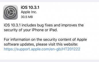 Apple releases iOS 10.3.1 update