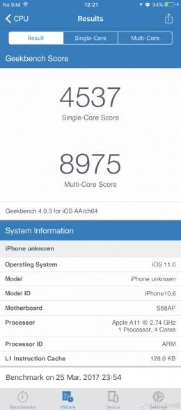 benchmark iphone 8