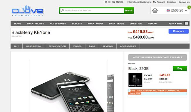TCL sẽ bán nhiều mẫu blackberry mới tại Anh