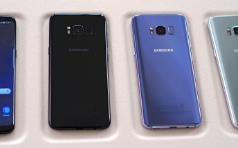 These are the color options for Samsung Galaxy S8/S8+ in Taiwan