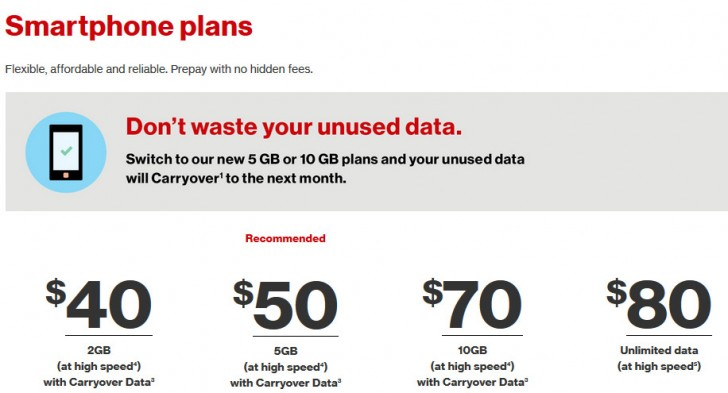 Verizon Introduces Unlimited Data Plans For Prepaid Customers