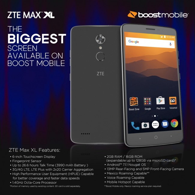 are verious zte max xl instructions one