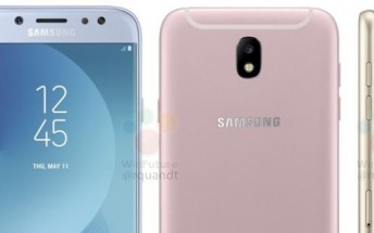 Galaxy J5 (2017) and Galaxy J7 (2017) monikers spotted on Samsung's official website