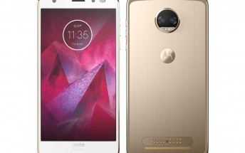 Moto Z2 Force smiles in a leaked press render
