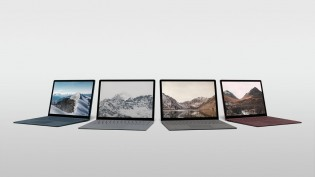 Surface Laptop in Cobalt Blue, Platinum, Graphite Gold and Burgundy