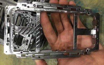 iPhone 8 metal frame pictured