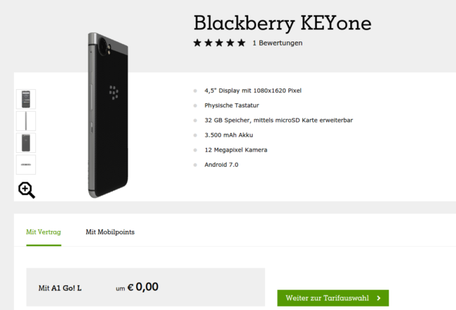 BlackBerry KEYone launched in Austria as European roll out continues