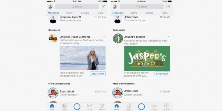 Facebook to show more ads in Messenger