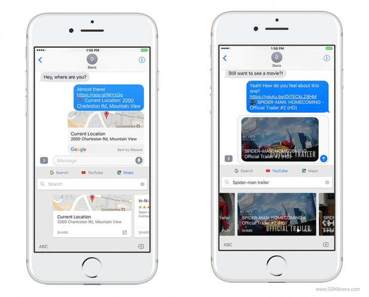 Google Updates Gboard Keyboard for iOS With Maps and YouTube Support